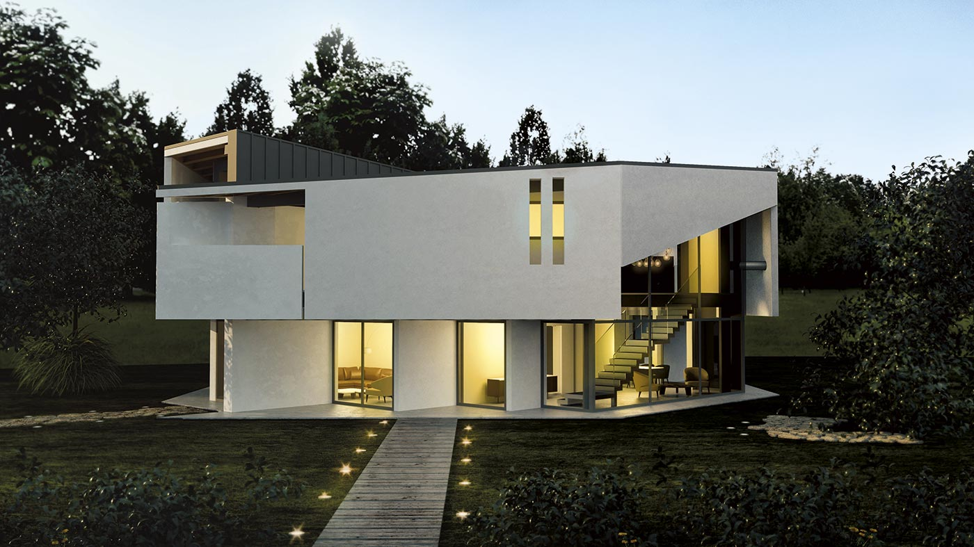 architettura casa acciaio